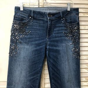 WHBM embellished jeans size 6